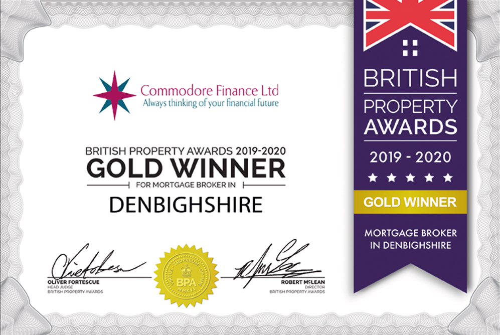 Commodore Finance | Denbighshire Award