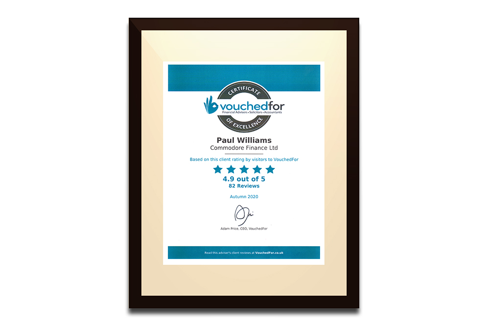Commodore Finance | VouchedFor Certificate